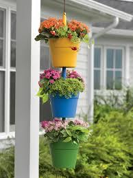 plant pots cascading hanging flower pots gardeners com