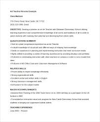 examples of teacher resume art teacher resume template teacher