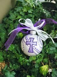 cross ornament personalized baptism ornament ornaments