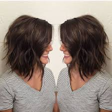 hairstyles that have long whisps in back and short in the front brunette bob lob beach waves hairstyles pinterest