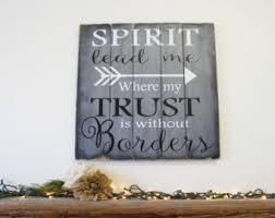 Religious Home Decor Wood Spirit Decor Etsy