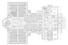 romanesque floor plan meleca architects llc st paul the apostle parish and of