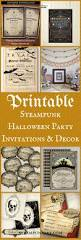 Vintage Halloween Poems Printable Steampunk Halloween Party Invitations And Decor