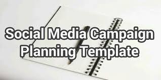 social media campaign planning templatesmdg