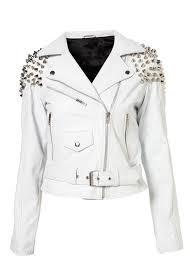 white motorcycle jacket entrilla white motorcycle leather jacket leather4sure women