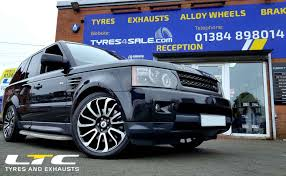 wheels range rover set of 20 alloy wheels fitted to range rover sport tyres4sale com