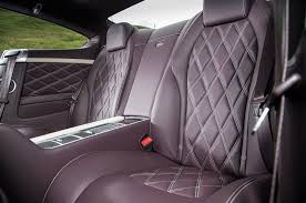 bentley interior back seat 2015 bentley continental gt speed review