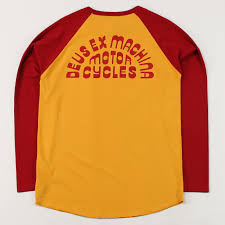 deus ex machina men u0027s super ok raglan tee t shirt yellow red 3 4