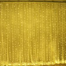 2x 6mx3m 600led warm white fairy curtain net light xmas wedding