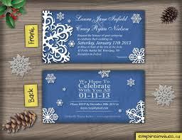 Snowflake Wedding Invitations Custom Snowflake Wedding Invitations From Winnipeg Canada