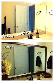 Bathroom Mirror Frame Kit Bathroom Mirror Frame Ideas Pinterest Kit Simple Decor Home