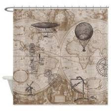 Airplane Shower Curtain Map Shower Curtain Foter