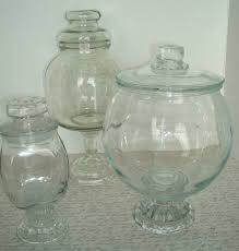 Candy Buffet Apothecary Jars by Apothecary Jar Set 3 Vintage Lidded Jars Wedding Candy Buffet