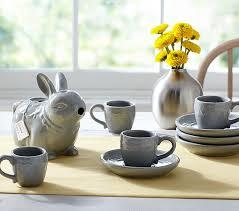 ceramic bunny tea set pottery barn kids
