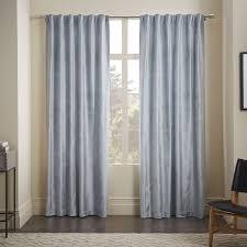 Dusty Curtains Drape Option 1 Luster Velvet Curtain Dusty Blue M Z