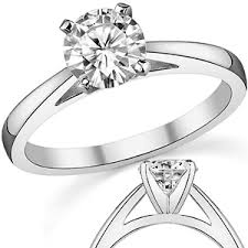 cathedral setting cathedral moissanite solitaire setting 14k pall moissaniteco
