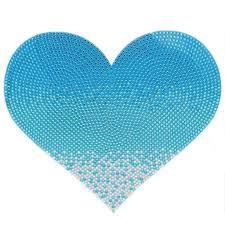 jumbo blue heart sticker rhinestone wall stickers stickerbeans rhinestone jumbo blue heart stickerbeans