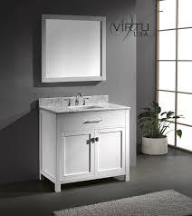 Virtu USA MSWMSQWH Caroline Inch Bathroom Vanity With - Virtu usa caroline 36 inch single sink bathroom vanity set