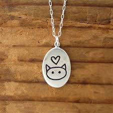 cat necklace sterling silver images Sterling silver love me love my cat necklace jpg