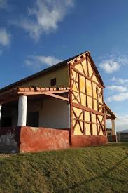 hand build architectural wood framework model house rome wasn t built in a day at wroxeter shropshire events