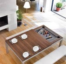 this classy dining table hides a pool table underneath soooo cool