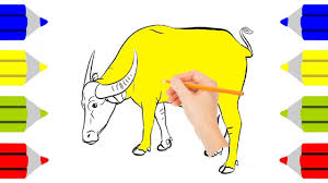 how to color buffalo learn colors coloring page for buffalo