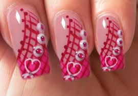 valentine u0027s day special 8 10 pink acrylic nail art step by step