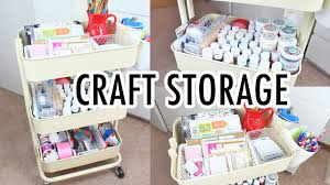 ikea raskog cart craft storage youtube