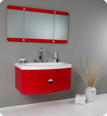 Vanity Folding Mirror Fresca Energia Red Modern Bathroom Vanity