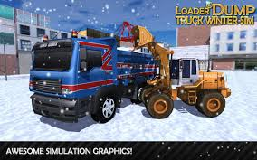 dump truck loader u0026 dump truck winter sim android apps on google play