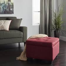 epic furnishings vanderbilt tufted padded hinged 24 inch square