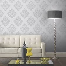 arthouse vintage capulet damask wallpaper silver 891801