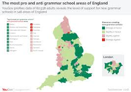 Map Of New England Area by Yougov New Map Shows Where Grammar Schools Would Be Most Welcome