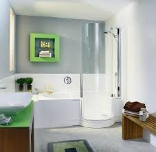 Bathroom Design Layout Ideas by Small White Floating Mirror Bathroom Demonstrated Round Grey Tub
