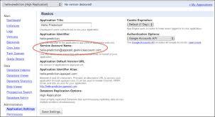 share google cloud storage among multiple google app engine