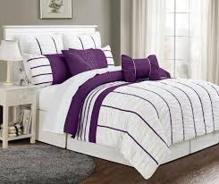 Purple And Gray Comforter Purple And Grey Bedding Ktactical Decoration