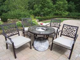 oakland living stone art 5 piece fire pit seating group with