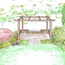 outline and sketch design garden design cumbria and the lake