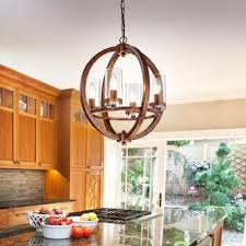 Orb Chandelier Vineyard Distressed Mahogany And Bronze 4 Light Orb Chandelier