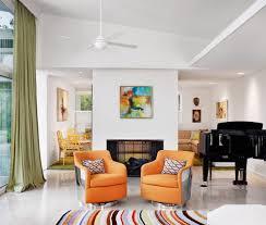 Ceiling Fan Living Room by Dual Ceiling Fan Living Room Modern With White Floor White Floor