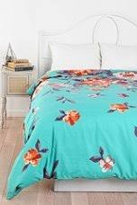 turquoise floral bedding on the hunt