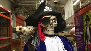 halloween 2016 72 in skeleton pirate with talking zombie parrot