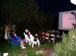 my outdoor movie setup
