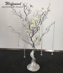 wedding trees wd0323 29 siver wedding table centerpiece manzanita tree