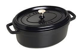 cocotte cuisine staub 1103325 cocotte ovale noir mat 33 cm amazon fr cuisine