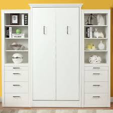 Murphy Bed Shelves 3 099 99 Stella Twin Murphy Bed With 2 Storage Cabinets White