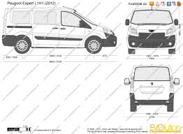 peugeot expert the blueprints com vector drawing peugeot expert l1h1