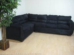Black Microfiber Sectional Sofa Black Microfiber Sectional With Pullout Bed Used Furniture