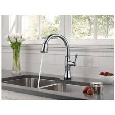 kitchen faucets delta delta 9197t ar dst cassidy single handle pull kitchen faucet