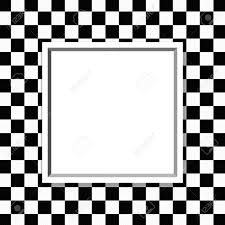 Black And White Checkered Black And White Checkered Frame With Frame Background With Center